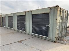 1981 Marine Equip Overseas 40' Steel Cube Container W/(4) Side-Door Storage Compartments