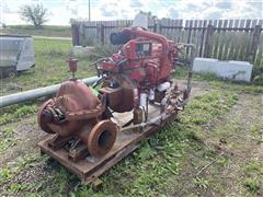 Peerless 8AEF15 Skid Mtd Centrifugal Fire Pump W/Detroit 6-71 Power Unit