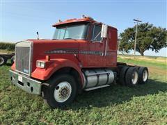 1988 White/GMC WIM64T T/A Integral Sleeper Truck Tractor