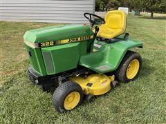 1991 John Deere 322 Lawn Tractor W/Mower Deck
