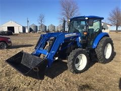 2017 New Holland T4.75 MFWD Tractor W/655TL Loader