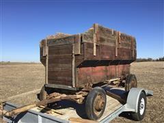 Vintage Wooden Grain Wagon