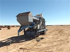 Shop Built Trailer Mounted Self Contained Grain Cleaner