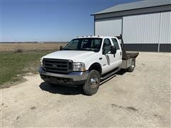 2003 Ford F450 4x4 Flatbed Truck