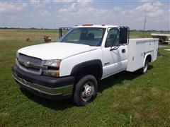 2004 Chevrolet 3500 Silverado 4x4 Service Truck