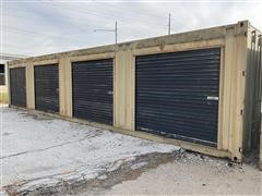 1984 Marine Equip Overseas 40' Steel Cube Container W/(4) Side-Door Storage Compartments