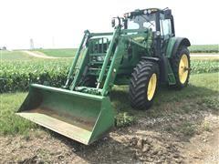 2012 John Deere 7430 Premium MFWD Tractor W/741 Loader Bucket
