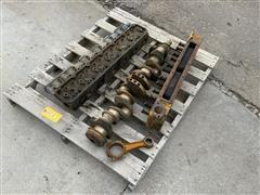 Allis-Chalmers /Ford Cylinder Head, 401 Ford Crank Shaft & Cylinder Head