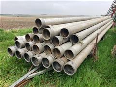 "Lindsay / Tex Flow Aluminum 8"" Main Line Irrigation Pipe"
