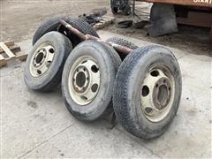 Michelin Radial 8R19.5 Tires W/Steel Rims