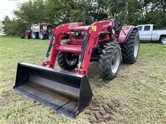2017 Mahindra 6065 4WD Compact Utility Tractor W/Loader