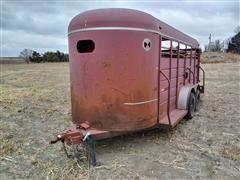 W-W Bumper Pull T/A Livestock Trailer