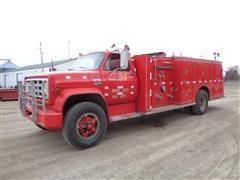 1978 GMC Sierra 6500 Fire Truck W/Luverne Cross Mount Pumper