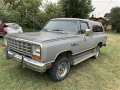1984 Dodge Ramcharger 150 Royal SE Prospector Edition 4x4 Sport Utility Vehicle