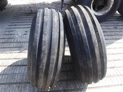 Firestone Champion Guide Grip 4 Rib 11.00x16 Front Tractor Tires W/ Rims