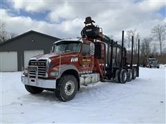 2015 Mack GU713 Tri/A Log Truck W/Serco Loader