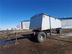 1990 Jet Co Pintle Hitch PUP Grain Trailer