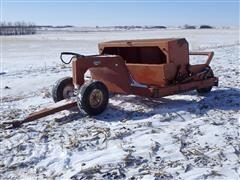 1984 Rowse 5 Yard Pull-Type Dump Scraper