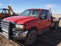 2000 Ford F350 4x4 Dually Extended Cab Flatbed Pickup (INOPERABLE)