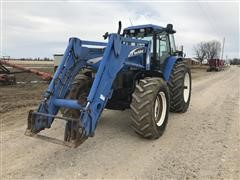 2002 New Holland TM125 MFWD Tractor W/Loader