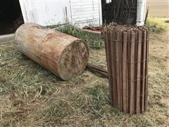 300-Gal Fuel Barrel & Snow Fence