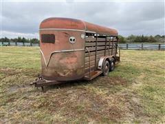 1981 S&H Stockman T/A Bumper Pull Livestock Trailer