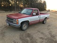 1989 Chevrolet C1500 2WD Single Cab Long Box Pickup