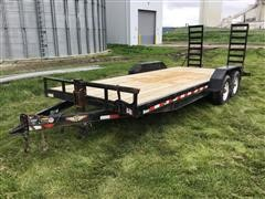 2015 H&H 20' T/A Flatbed Trailer