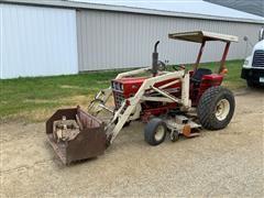 1977 International 284 Loader Tractor W/Woods L59 Mower