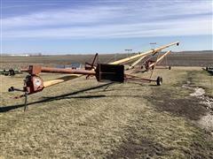 """Westfield MK80-61 8"""" 61' Long Auger W/swinging Hopper"""