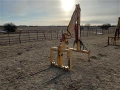 Ag Krane MSL-096HDS2 Hydraulic Tractor Crane W/Bale Forks