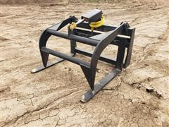 Mid-State Grapple Pallet Forks Skid Steer Attachment