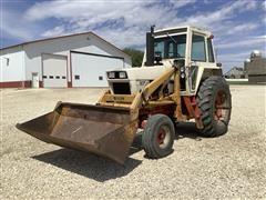 1974 Case 1070 2WD Tractor & Miller #12 Loader