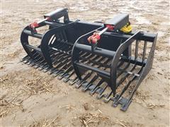 2021 Mid-State Brush/Rock Grapple Bucket Skid Steer Attachment