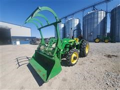 2005 John Deere 5205 MFWD Compact Utility Tractor W/Loader