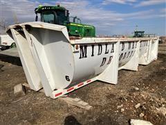 Round Bottom Steel End Dump Trailer Body