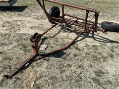 Homemade Pull-Type Round Bale Carrier