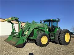 1997 John Deere 8300 MFWD Tractor W/840 Loader