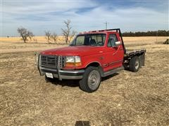 1993 Ford F250 4x4 Flatbed Pickup