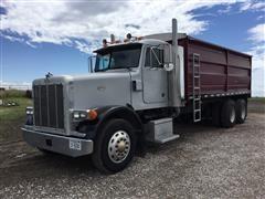 1996 Peterbilt 378 20' Box & Hoist Grain Truck