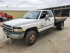 1997 Dodge 3500 4x4 Extended Cab Flatbed Pickup
