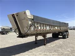 1987 Hobbs 39' T/A Aluminum End Dump Trailer