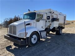 2010 Kenworth T300 S/A Feed Truck W/Roto-Mix 620-16
