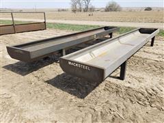 2021 Macksteel 20' Steel Feed Bunks