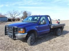 2000 Ford F350 Super Duty 4X4 Pickup W/DewEze 684 Pivot Hyd Bale Bed