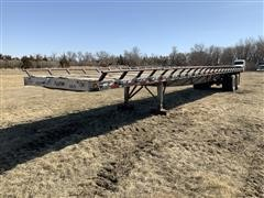 1987 Great Dane GP-248 T/A Flatbed Trailer W/Hay Extensions