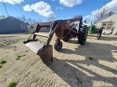 1953 Farmall Super M 2WD Tractor W/Farmhand F11 Loader/Bucket