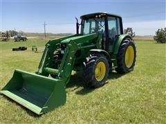 2006 John Deere 6420 Premium Cab MFWD Tractor W/H340 Loader