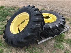 John Deere Rims W/Michelin 14.9R24 Tires