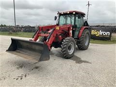 2015 Mahindra 85P 4WD Compact Utility Tractor W/Loader